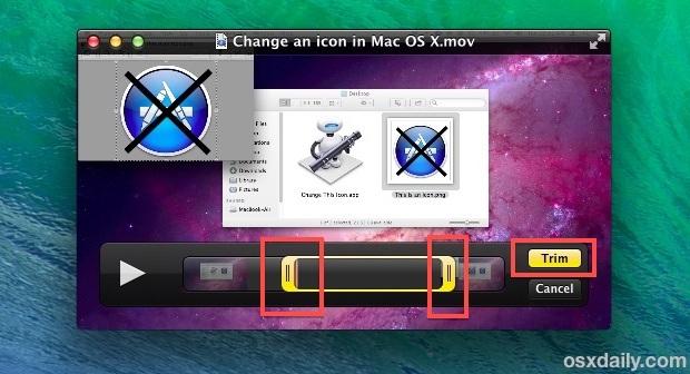 Taglia i video con QuickTime in Mac OS X