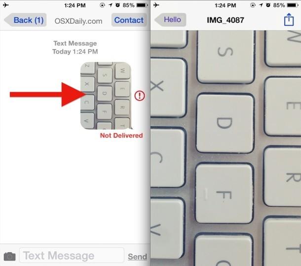 Condivisione di un'immagine iPhone senza accesso al rullino fotografico