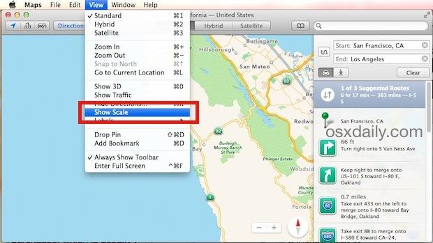 Mostra scala in Maps per Mac