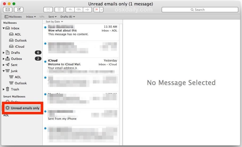 Posta in arrivo non letta solo su Mail per Mac OS