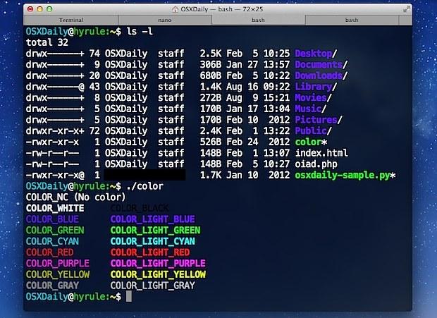 Migliora l'aspetto del terminale in Mac OS X