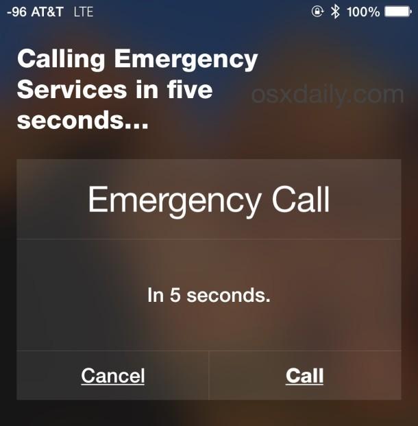 Chiama i servizi di emergenza con Siri un iPhone se necessario