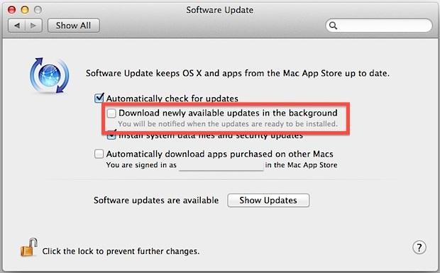 Arresta i download e gli aggiornamenti automatici delle app in OS X Mountain Lion