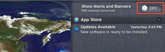 Disabilita le notifiche per il giorno di silenzio dell'aggiornamento software per 24 ore