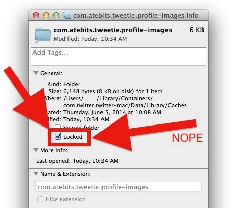 Impedisci la creazione della cache di immagini di Twitter per Mac