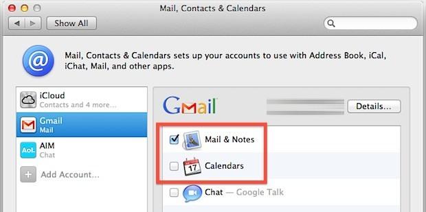 Configura Gmail per la sincronizzazione da Mac ad Android