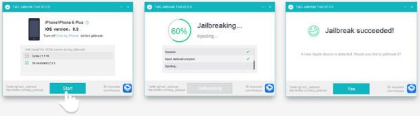 The Taig Jailbreak per iPhone su iOS 8.3
