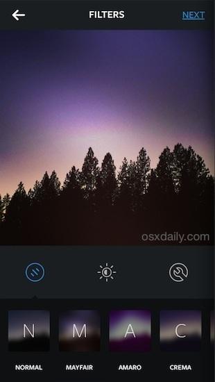 Salva e applica i filtri Instagram senza caricare