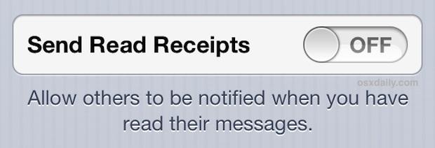 Disattiva le conferme di lettura nell'app di messaggistica di iPhone