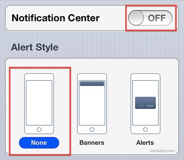 Disattiva le notifiche e gli avvisi su iPhone