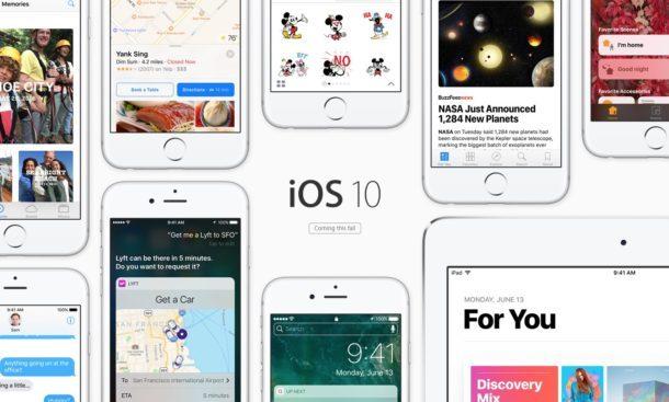 iOS 10 supporta un'ampia gamma di hardware