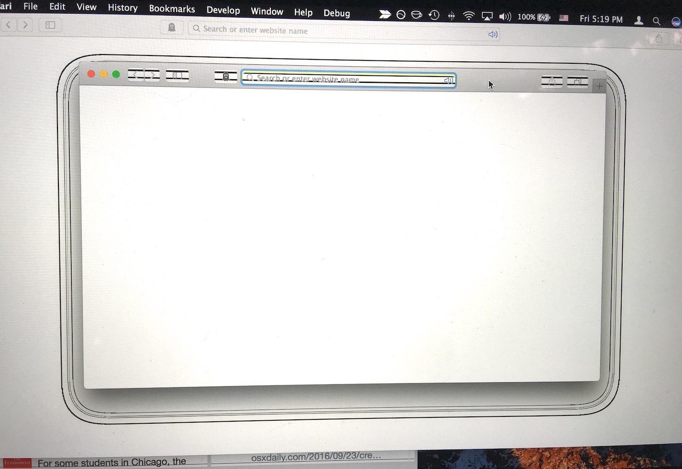 macOS Sierra video problem drop shadow stranezza