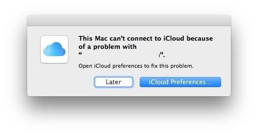 Errori iCloud macOS Sierra