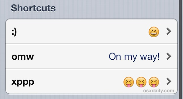 Scorciatoie di carattere veloci di Emoji