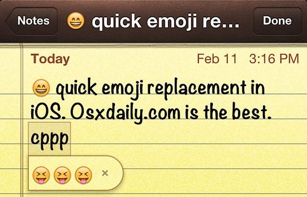 Digita Emoji più veloce in iOS