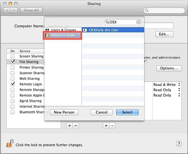 Condividi i file su un Mac senza creare un nuovo account utente con ID Apple