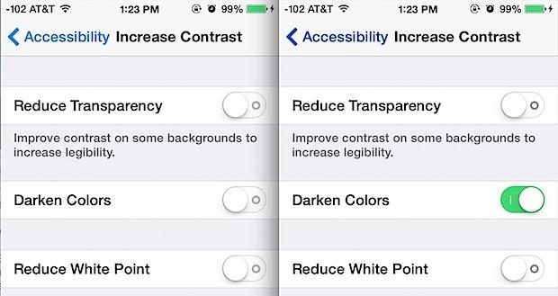 Colori più scuri rispetto ai colori predefiniti in iOS