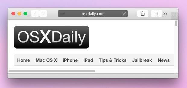 Finestra di navigazione privata in Safari OS X