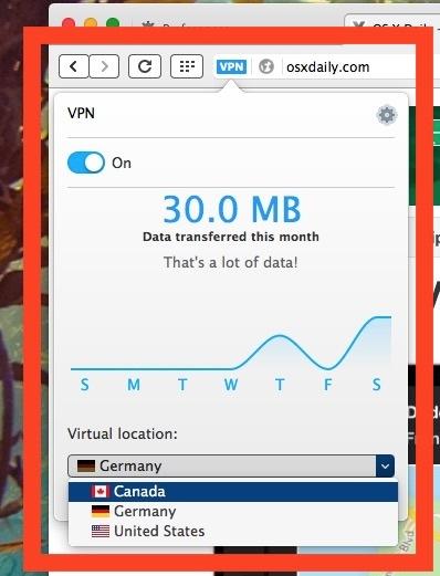 Scegli la posizione VPN in Opera