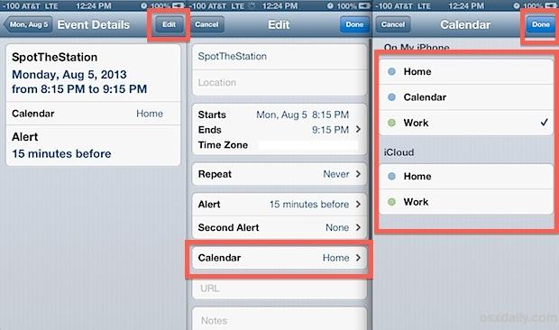 Cambia un calendario di eventi su iPhone, iPad e iPod touch