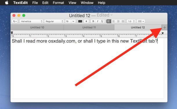 Utilizzare le schede TextEdit su Mac