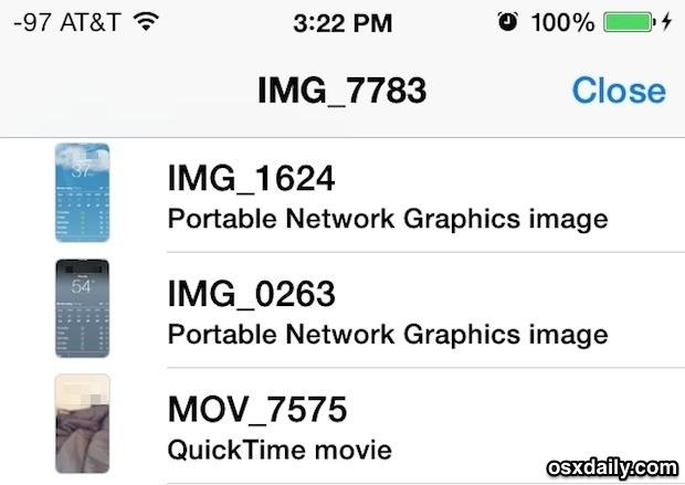 Visualizza tutte le immagini, foto, filmati, video, scambiati tra l'app Messaggi per iOS