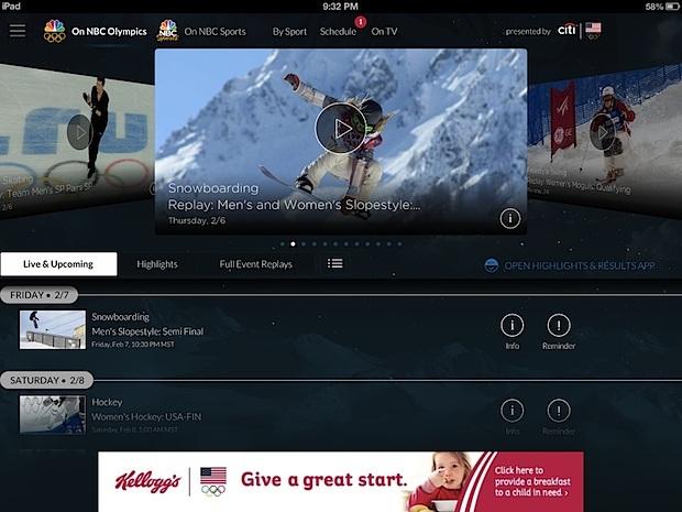 Guarda i flussi olimpici dal vivo su iPad o iPhone gratuiti