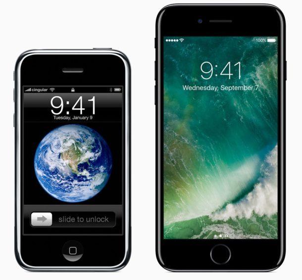 IPhone originale accanto a iphone 7