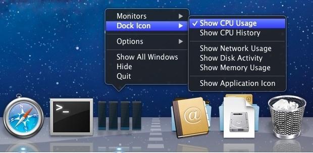 Abilita il Dock Activity Monitor in Mac OS X