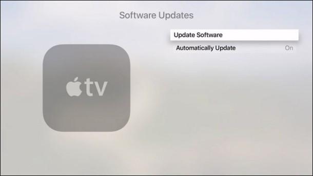 Aggiorna il software Apple TV