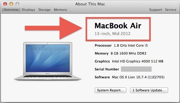 Mac OS X Mountain Lion supporta Mac