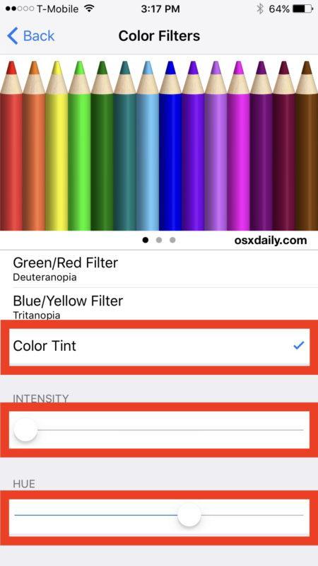 Correggi lo schermo giallo di iPhone 7 regolando la tonalità
