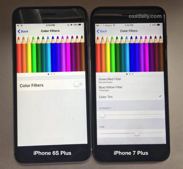Correzione del colore del display di iPhone 7 Plus